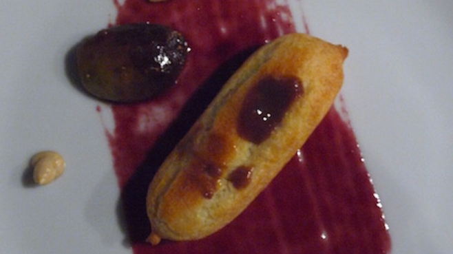 Chef Halvorsen's grape gastrique featured in the Foieclair